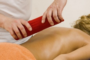 Heisse Rolle Massage